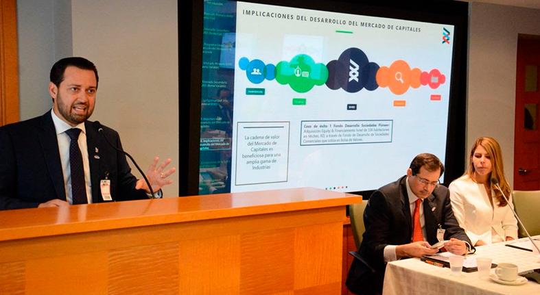 Bolsa de Valores presenta a empresarios el crecimiento del mercado de valores dominicano