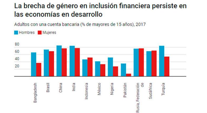 La brecha de Genero en Inclusion financiera persistente en las economías en desarrollo