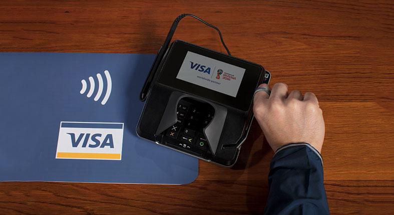 VISA informa quinta parte compras Copa Mundial de laTOURISM,  FIFA 2018TM usan tecnología pagos sin contacto