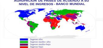 Definen clasificación países según nivel ingreso