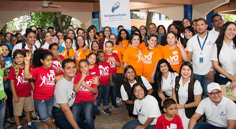 Voluntariado Banreservas respalda Programa Desarrollo Integral para personas con discapacidad