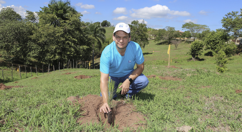 Empleados del Popular siembran más de seis mil árboles en Santiago
