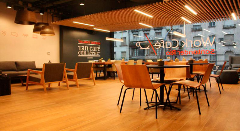 Para generar nuevos negocios, los bancos suman espacios de coworking en sus sucursales