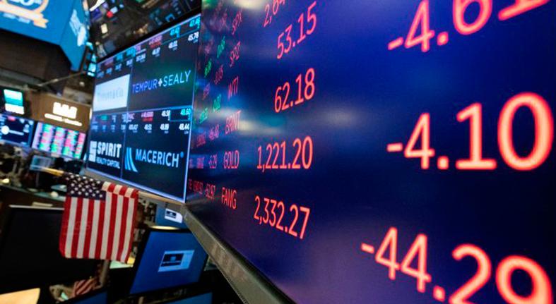 Wall Street retrocede a media sesión y el Dow Jones baja un 1,48 %