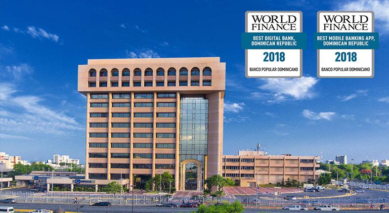 Popular premiado nuevamente mejor banco digital por World Finance