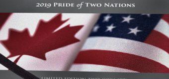 Lanzan Canadá y Estados Unidos set monedas Orgullo Dos Naciones
