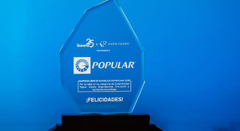 Reconocen Banco Popular empresa líder Dominicana y número 4 región