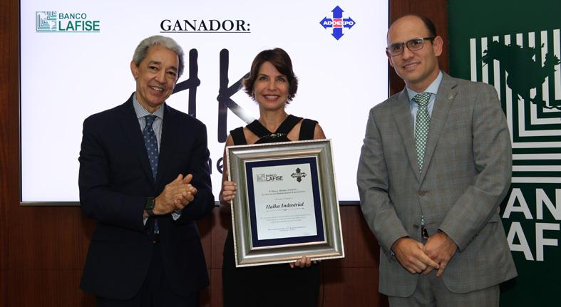 """Recibe Halka Industrial premio """"Empresa Exportadora Lafise"""""""