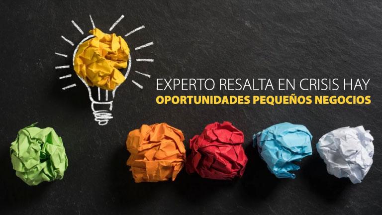 Experto resalta en crisis hay oportunidades pequeños negocios