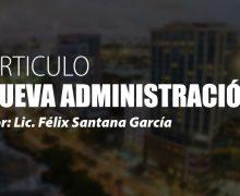 ARTICULO: Nueva administración