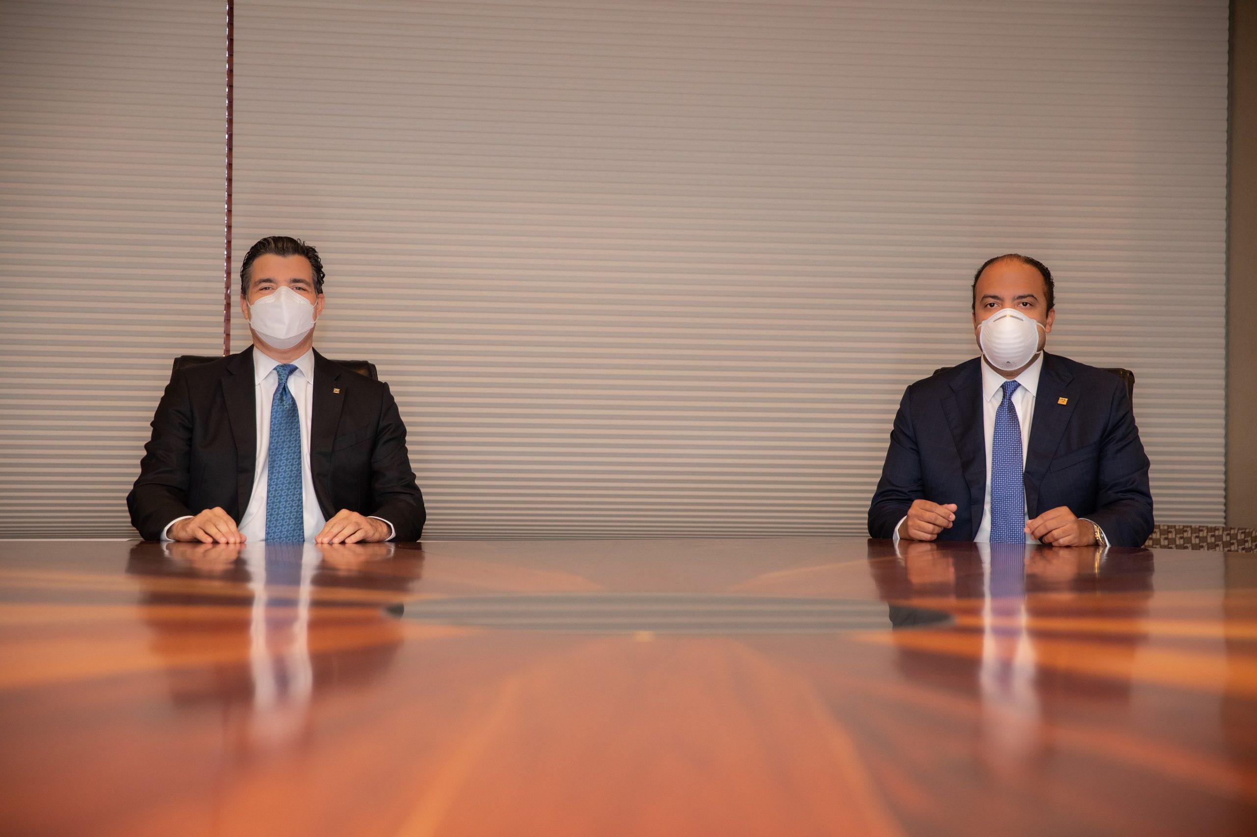 Primeros ejecutivos del Banco Popular y del Banreservas reafirman compromiso con la sociedad
