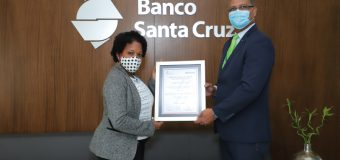 Recibe Banco Santa Cruz certificado seguridad y salud en trabajo
