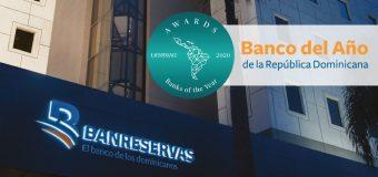 Premia LatinFinance al Banreservas como Banco 2020