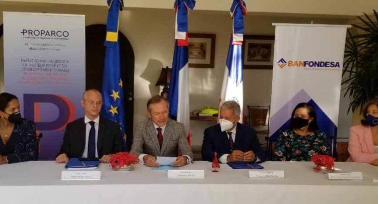 El Banfondesa y Proparco firman pacto de garantia de cartera