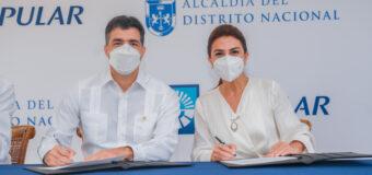 Firman el Ayuntamiento Distrito Nacional y Banco Popular acuerdo remozar Parque Mirador Sur