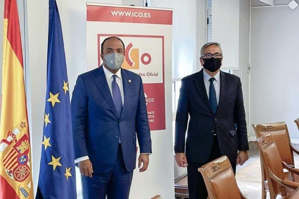 Se reúne administrador general Banreservas con gobernador Banco de España
