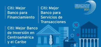 """Gana Citi Centro América y Caribe """"Mejor Banco de Inversión"""" en Premios Regionales Excelencia de Euromoney"""